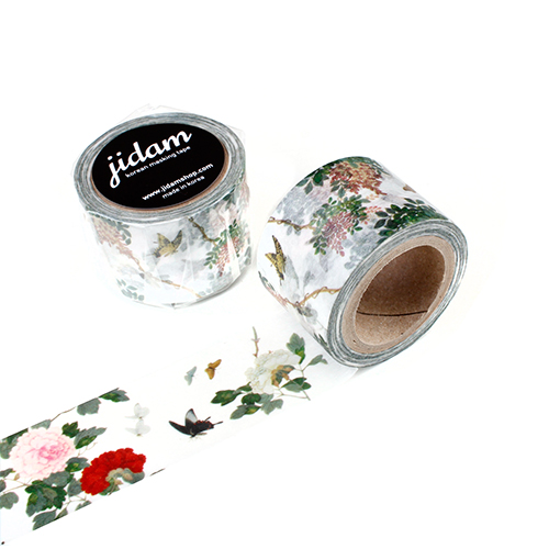 [마스킹테이프] 남계우-꽃과 나비 - 화이트