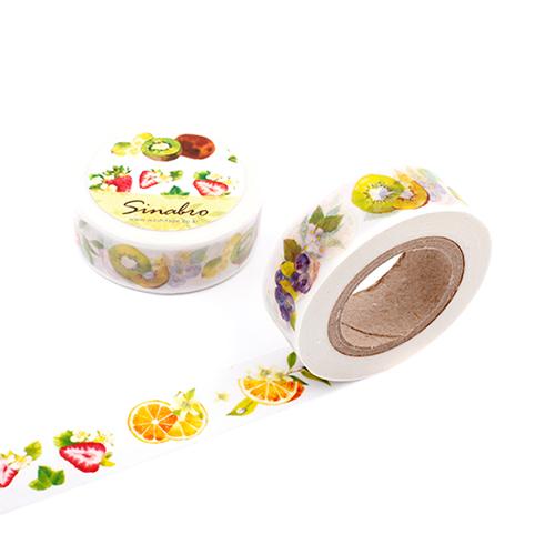 [마스킹테이프] 수채화과일